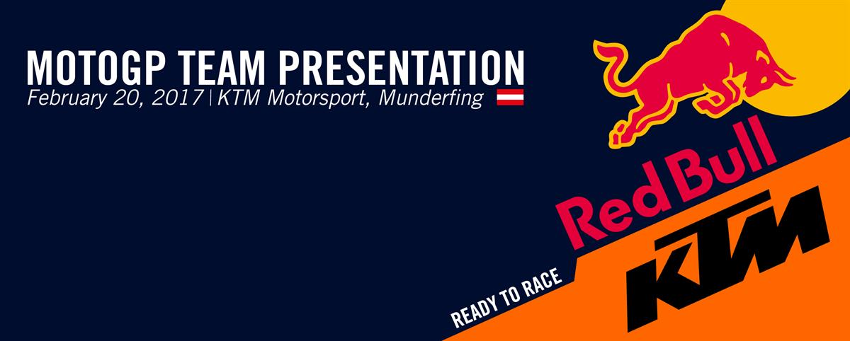 Red Bull KTM MotoGP Team Presentation 2017 - ASC - Action Sports Connection