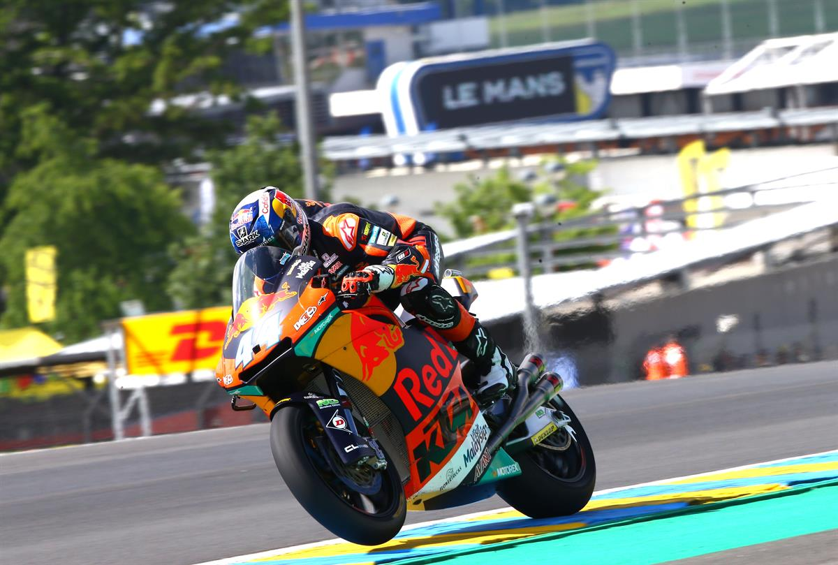 Both ktm motogp bikes in top 10 for french grand prix for Prix m2 le mans