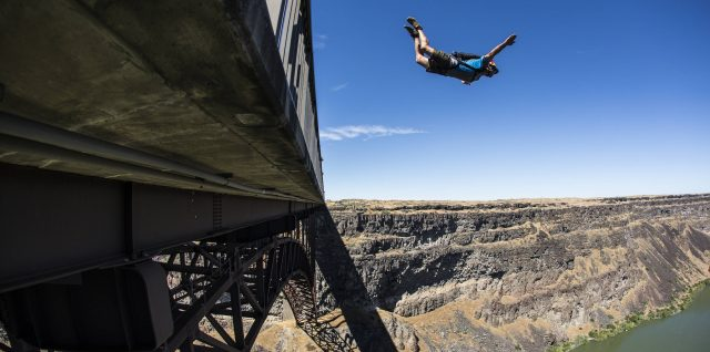 Daisher breaks BASE jump mark