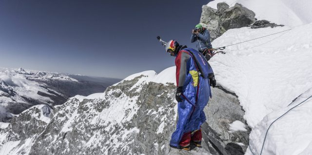Valery Rozov BASE jumps from highest point in Peru