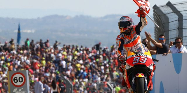 Marquez attack pays off in Aragon