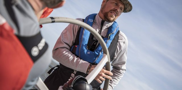 Snowboarder Rice rides the waves with Volvo Ocean Race crew