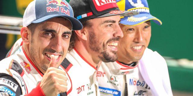 Alonso and Buemi achieve Le Mans dream as Nakajima keeps cool
