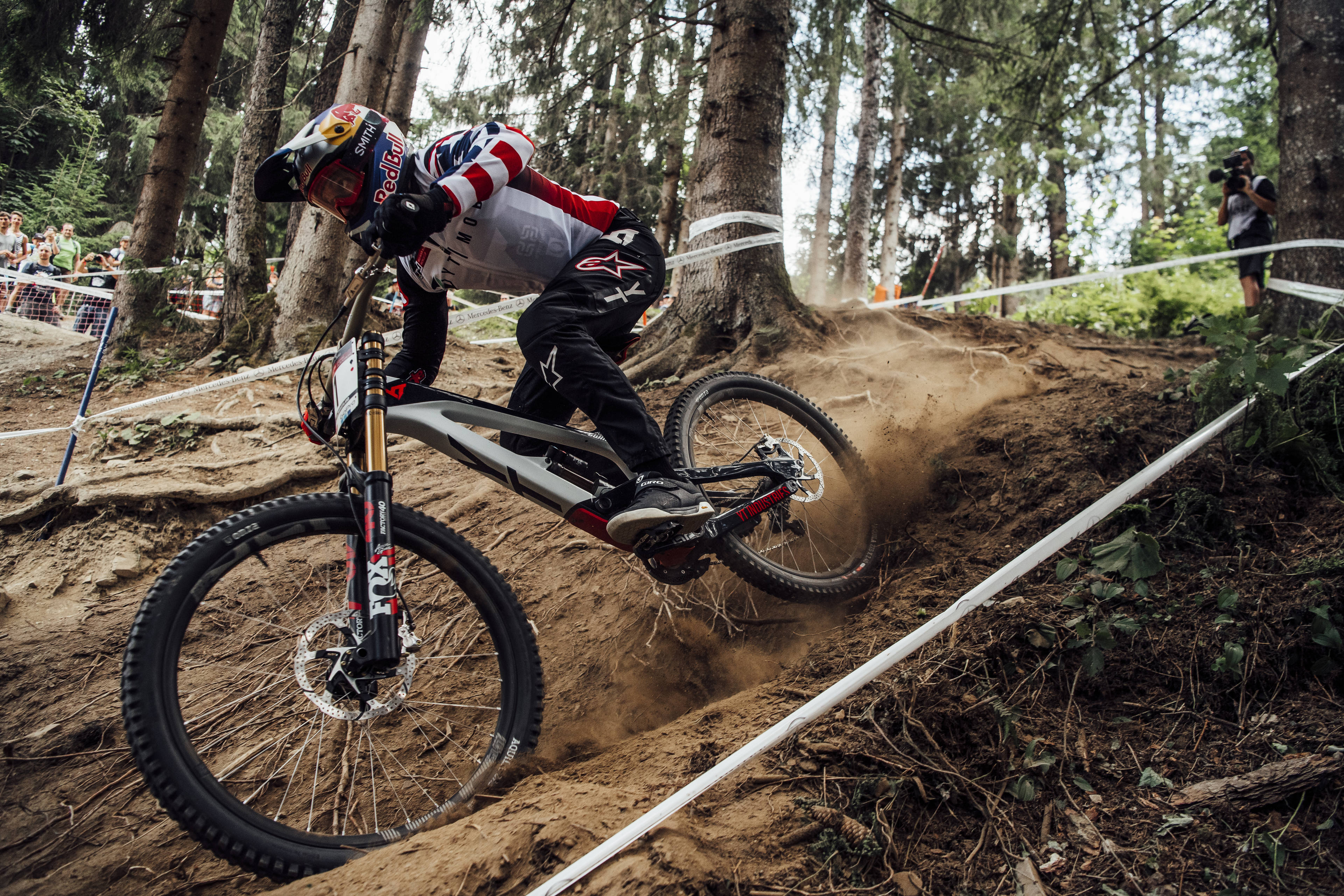 29ff819fbf3 Aaron Gwin performs at UCI DH World Cup in Leogang, Austria on June 10th,  2018 – Photographer Credit: Bartek Wolinski/Red Bull Content Pool