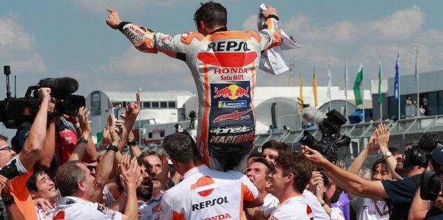 WINNING STREAK: Nine in a row for unstoppable Márquez in Germany
