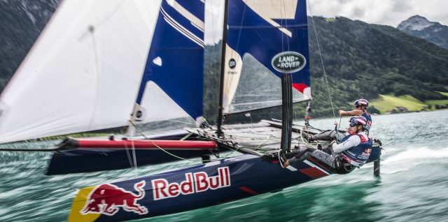 Sailing / Red Bull Foiling Generation / Austrians smash speed mark on picturesque Lake Achensee