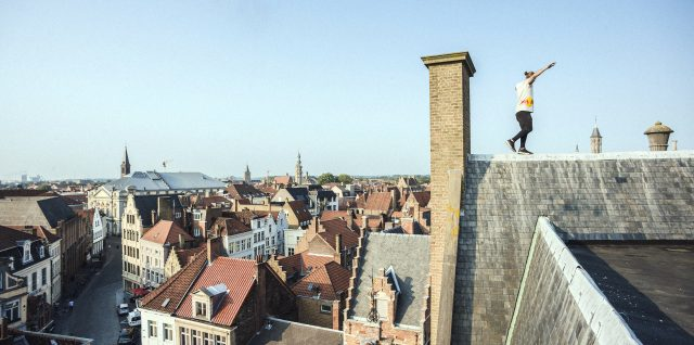 VIDEO ALERT: POV footage of Di Tommaso's rooftop Bruges holiday