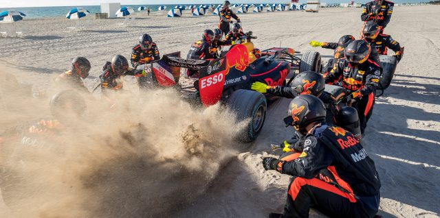 VIDEO ALERT: Burning rubber on the golden sand of Miami Beach
