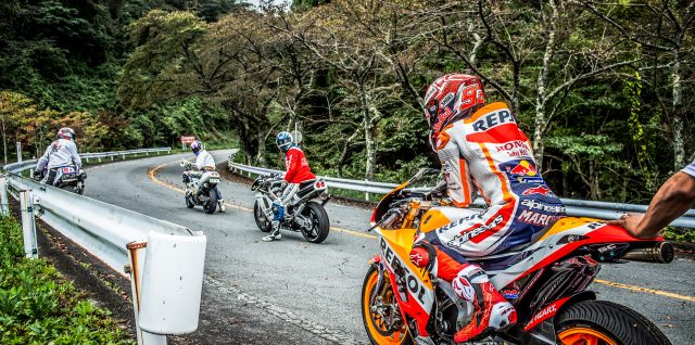 VIDEO ALERT: Márquez roars past classic Japanese cars on famous road