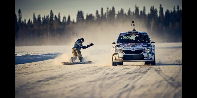 VIDEO ALERT: Snowboarding and WRC combine in Finnish Lapland
