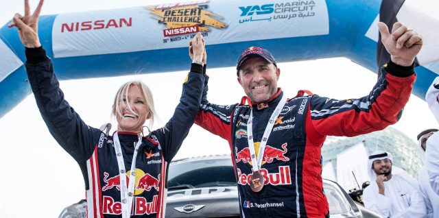 Peterhansels team up for historic Abu Dhabi Desert Challenge victory
