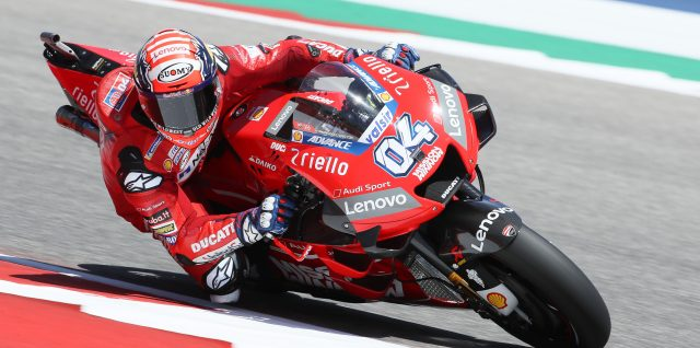 Dovizioso grabs MotoGP title lead as Rins secures maiden victory