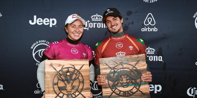 Carissa Moore and Gabriel Medina Win Corona Open J-Bay