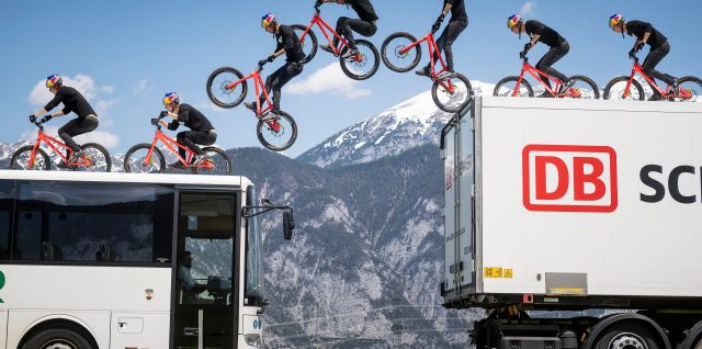 Fabio Wibmer makes his own bike rules in escaping urban chaos in Austria