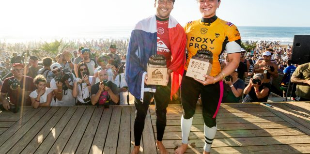 Jeremy Flores and Carissa Moore Win 2019 Quiksilver Pro and Roxy Pro France