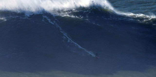 """Justine Dupont surfed """"the greatest wave of her life"""" in Nazaré"""