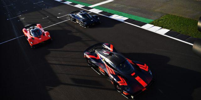 Verstappen and Albon test out Aston Martin Valkyrie hypercar