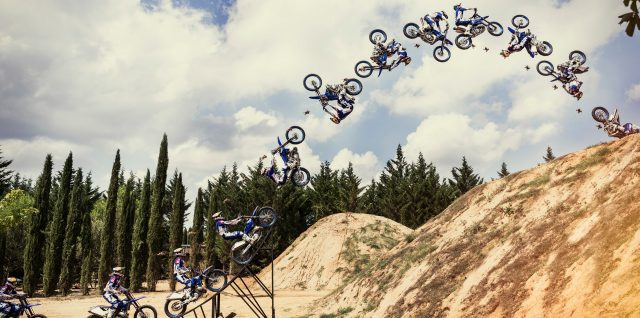 Evergreen story: Four iconic Pagès FMX tricks uniquely captured by racing drone