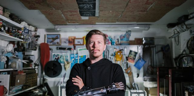 Evergreen story: Meet the talented owner of a video game inspired bionic arm
